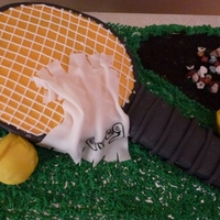 Tennis Theme Birthday Cake 90th Birthday Cake. He was a life long tennis player.