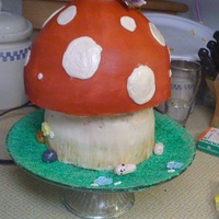 Mushroom Cake I made this for my friends 30th Birthday. Super fun!