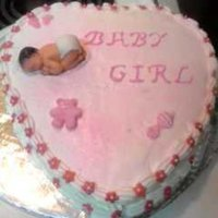 Its A Girl sugar toppings gumpaste mold butter cream topping