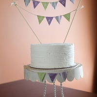 """him Or Her?"" Gender Reveal Cake Simple gender reveal cake. Purple would be mean girl and green would mean boy."