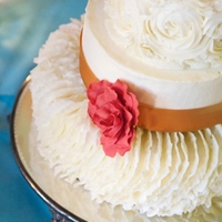 Ruffles And Roses Wedding Cake I?ve been looking forward to making this one since November but I was in a motorcycle accident 2 weeks before this cake was due! I wasn?t...