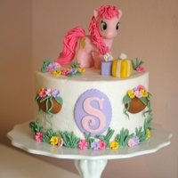 My Little Pony Cake With Pinkie Pie Small ?My Little Pony? cake for a little girl?s 4th Birthday with Pinkie Pie. Should have given her more of a nose. This one was a blast!