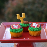 Superbowl Football Cupcakes Just some fun cupcakes I made for friends.
