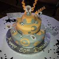 Blackpool Supporter Birthday Cake Surprise 50th Birthday for a Blackpool football supporter.