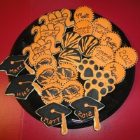 Howland Tigers Class Of 2012 Graduation NFSC iced in Antonia74's royal icing cookies. I used my Kopycake to do the tiger....lets just say: I LOVE MY KOPYCAKE!!
