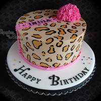 Hand Painted Animal Print Cake   Hand painted animal print cake