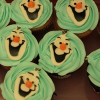 """frozen"" Olaf Themed Cupcakes"
