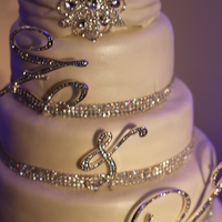 Rhinestone Wedding Cake