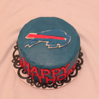 Buffalo Bills Birthday Cake   Fondant logo