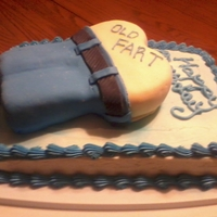 Old Fart Cake This is a cake I did for my Dad.. I used a heart shaped pan and one small loaf pan cut in half for the legs..Buttercream frosting covered...