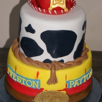 Toy Story Jess and Woody Toy Story cake. I am new at making characters and they are NOT my strong point, so I had to come up with a way, to implement...