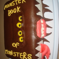 Monster Book Of Monsters   My thirteen-year-old daughter and I made this for a relative visiting from Australia -- they're both huge Harry Potter fans!
