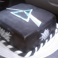 Pink Floyd Fathers Day Cake Cake I made for my dad on fathers day. Had a hard time with the black fondant but finally made it look okay. It was a rush job because we...