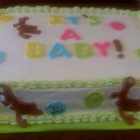 Monkey Time  cousin having a babyshower with monkey theme. Cake was half chocolate,half white,chocolate custard filling, Almond buttercream and fondant...