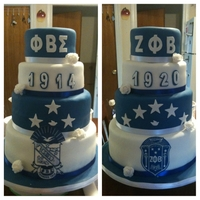 Zeta Phi Beta Sigma Cake The Sigmas and Zetas were having a CT wide picnic and asked me to make a cake with both organizations equally interpreted in it. This was...