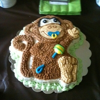 Monkey Baby Shower Marble cake with vanilla buttercream and fondant decrations :)