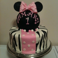 Minnie Mouse Zebra Cake The customer provided me with the photo of the cake they wanted me to duplicate unfortunately I do not know who to credit for the design. I...