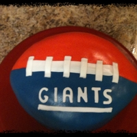 Football! Giants cake for football fanatic. Tiramisu cake :) It was so delicious!