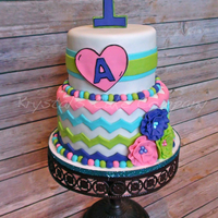 Bright Neon Chevron 1St Birthday