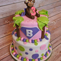 Super Monkey This cake was for a little girl named Beth who's nickname is Super Monkey! The monkey has a cape on :-)