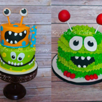 Monster Cake With Smash Cake
