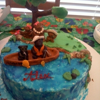 Birthday Cake With Bears my husband 40th birthday cake, the bears is our family mom, dad, 1boy and 2 girls. The bears made out of fondant.