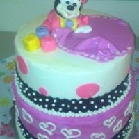 Mini Mouse Baby Shower Cake