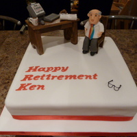 Retirement For A Racing Fan Ken is a keen horse racing fan, so the design and request was very specific with the racing post on the table and a coffe and croissant. I...