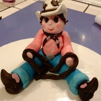 Cowgirl Birthday Made entirely out of fondant
