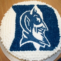 Duke Cake   birthday cake for a coworker who is a huge fan of duke