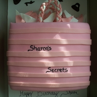 Sharon's Secrets   Birthday Cake for a friend's sister who likes to shop.