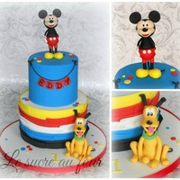 Mickey Mouse And Pluto Cake Mickey Mouse and Pluto cake. I hand made the figurines (found some tutorial on pinterest, they realy helped). I got inspired from a picture...