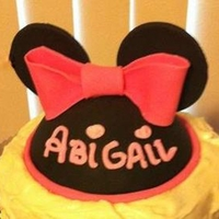 Minnie Mouse Hat Topper