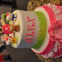 Hello Kitty , Hello Kitty, Hello Kitty - Petal Cake My little girl's Hello Kitty Cake. Cake topper was a cartoon of my baby girl for her invitation with the hello kitty gang. I enjoyed...