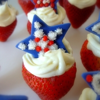 Berry Patriotic Standing strawberries filled with white chocolate cream...