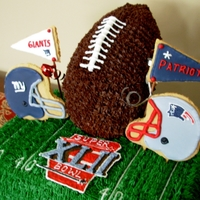 Superbowl Cake I made this cake a while back for my husband's niece...