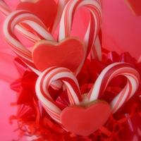 Cookie And Candy Hearts Candy canes make cute hearts also!...