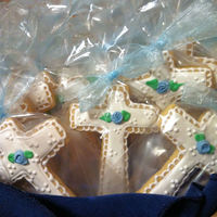 Cross Cookies For Christening   Finished order for 75 cross cookies for Christening.