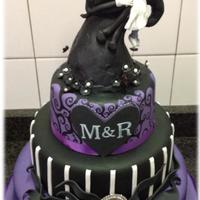 "This Was A Wedding Cake For A Couple Who Wanted A Nightmare Before Christmas Theme And I Believe I Fulfilled The Brief The Topper Was Ma This was a wedding cake for a couple who wanted a ""nightmare before Christmas"" theme and I believe I fulfilled the brief. The..."