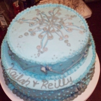 Engagement Cake butter cream with RI snowflake