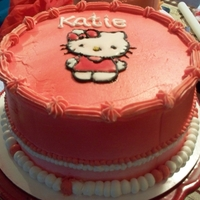 Hello Kitty   Buttercream with color flow