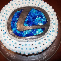 Lexus Birthday Cake   buttercream, piping gel and fondant