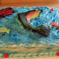 Fish buttercream with fondant accents