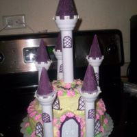My First Castle Cake!!!! Used romantic castle set