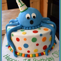 Ollie's 1St Birthday Octopus Cake