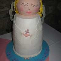 First Communion Angel Cake for my niece and her cousin's First Communion. TFL!