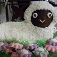 Lamb Cake This is the first cake I ever made! It was for my daughter's baptism last Easter.