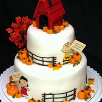 Charlie Brown And The Great Pumpkin   This was for a baby shower. The customer wanted only fall colors.
