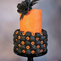 Happy Halloween Everyone The Black Bottom Tier Is Covered With A Tufted Billow Weave As Developed By Susan From Susan Trianos Custom Cakes... Happy Halloween Everyone!The black bottom tier is covered with a tufted billow weave as developed by Susan from Susan Trianos Custom Cakes...