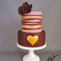 The Cake Decor Represents Two Lives That Come Together As One Heart In An Abstract Design Happy Valentines Day Dark Chocolate Cake With Ch... The cake decor represents two lives that come together as one heart in an abstract design. Happy Valentines Day!Dark Chocolate cake with...